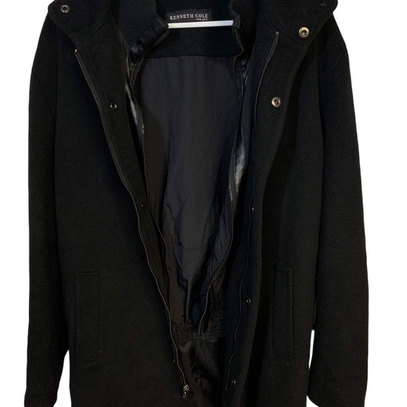 Kenneth Cole double breasted men's jack coat wool